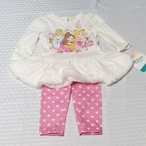 Disney Matching Sets - New Disney Princess Baby Girls Outfit